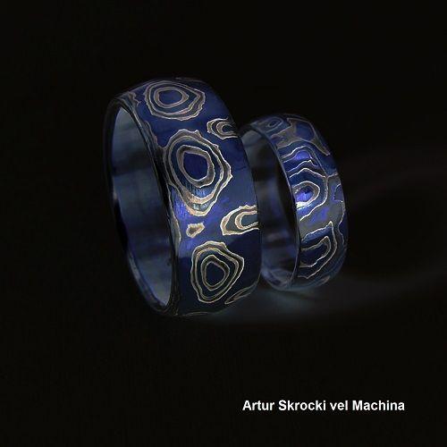 mokume blue