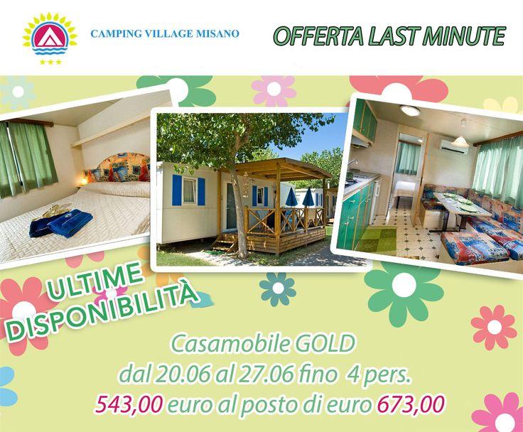Last Minute Casa Mobile Dal 20 Giugno al 27 Giugno fino a 4 persone  € 543,00 ANZICHE' € 673  TUTTO COMPRESO
