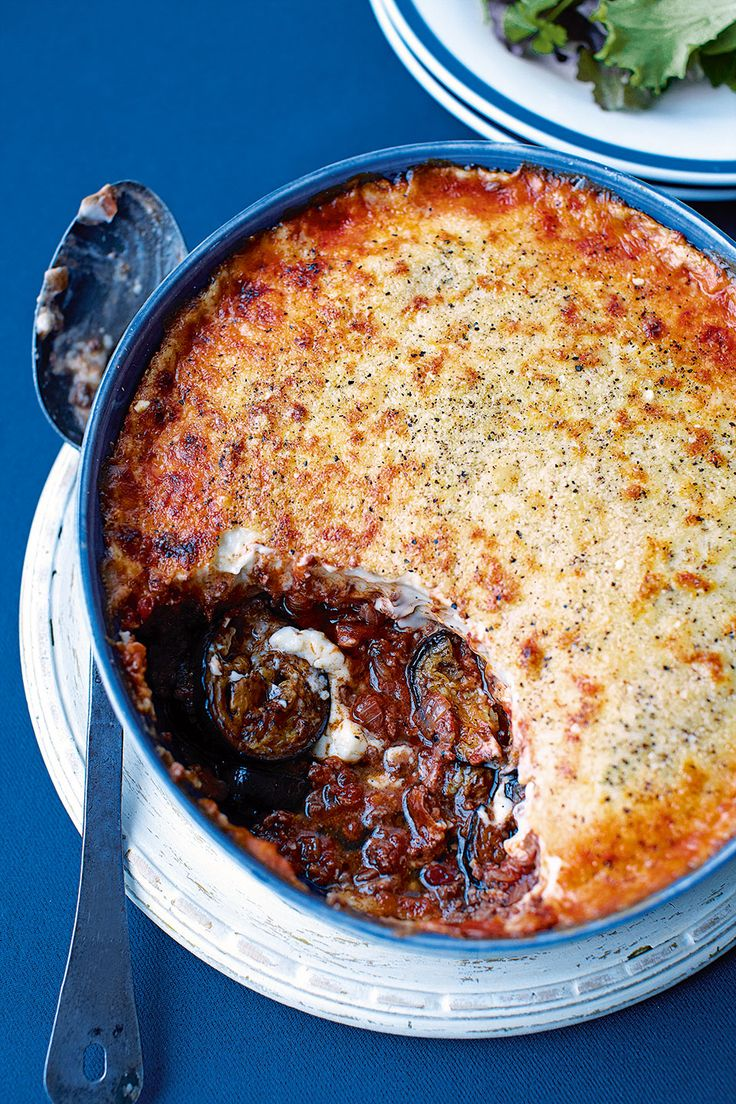 Moussaka is a classic Greek dish made from aubergines and lamb mince. This tasty recipe is quick and easy, and can be made ahead.