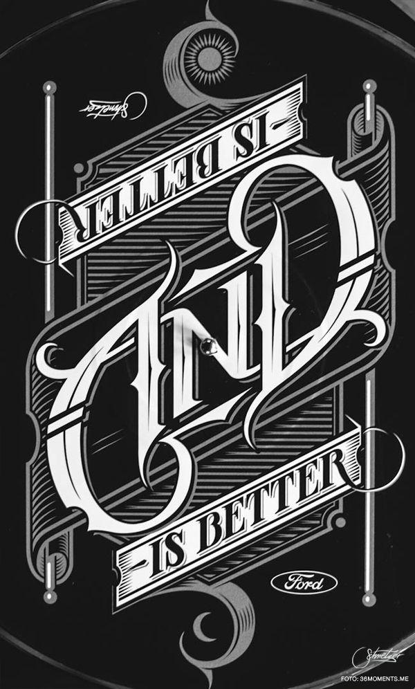 AND Ambigram by Martin Schmetzer, via Behance