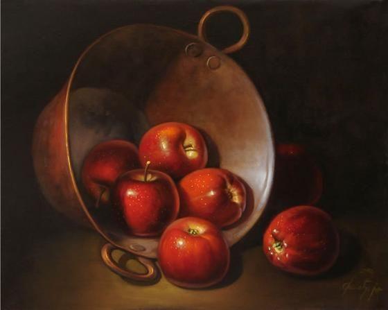 Pintor Mexicano, Pintura al Oleo, Cosas sobre Mexico. manzanas