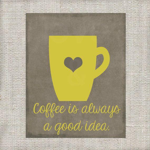 Kitchen Wall Art Print Set - Eat Drink Love - Yellow, Grey, Black ...