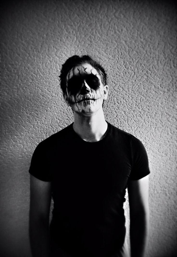 Skull Devil Makeup Halloween Men
