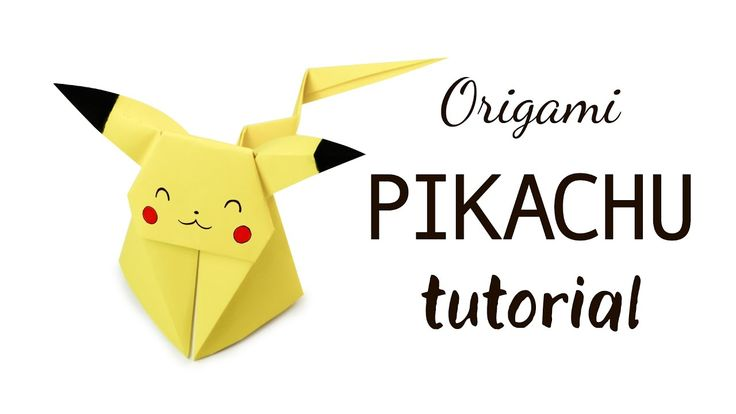 Origami Pikachu Tutorial ★ Pokemon DIY ★ Paper Kawaii