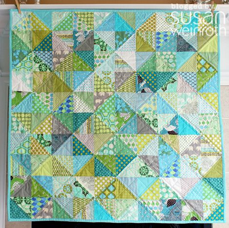 what a beautiful #quilt! The piecing is so simple too. It's the colorwork that makes this special.