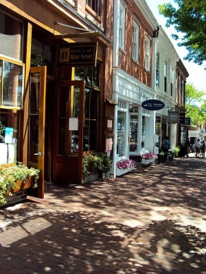 Main Street in Nantucket , USA  I have been there and it's wonderful.  Love the feel while there.