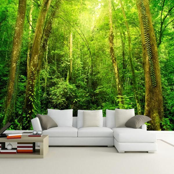 Small Bridge Forest Landscape Wallpaper Mural (㎡)