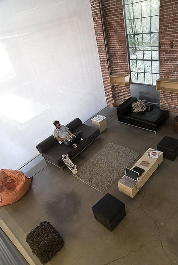 cool community collaboration space, interior, office