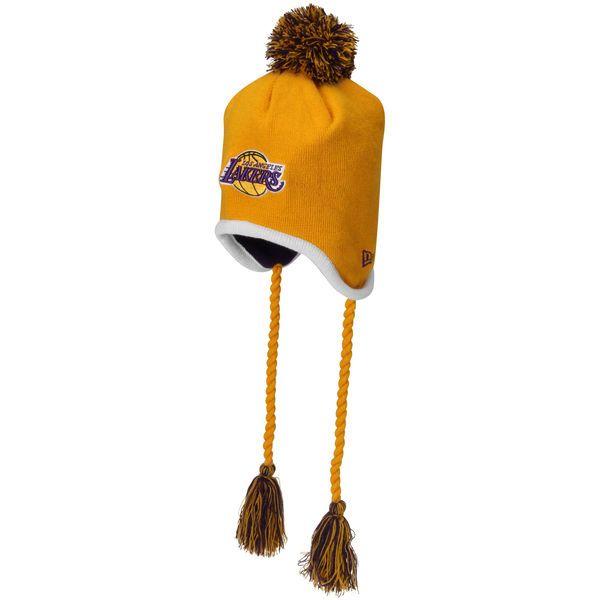 New Era Los Angeles Lakers Team-Tone Tassle Knit Hat - Gold - $13.99