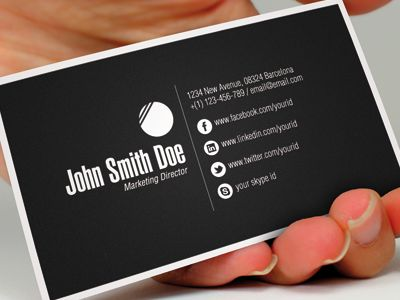 example of black business card