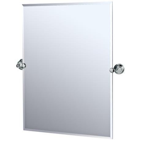 Gatco Chrome Tiara 31 1 2 High Tilt Vanity Mirror Tilt Chrome And Vanities