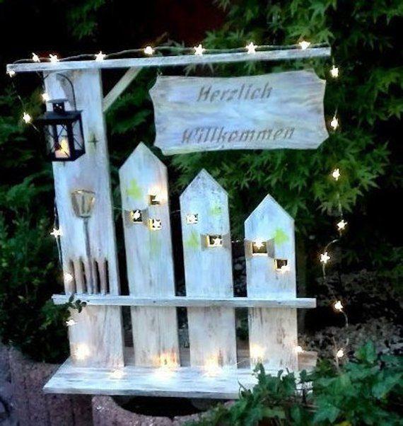"""DEKO Objekt, drinnen oder draußen, Stele """"Home"""" aus Holz, Geschenk, NEU"""