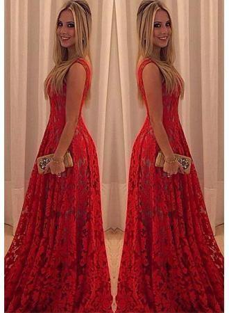 abendkleider abendmoden abiballkleider bodenlang etuikleider lang rot spitze