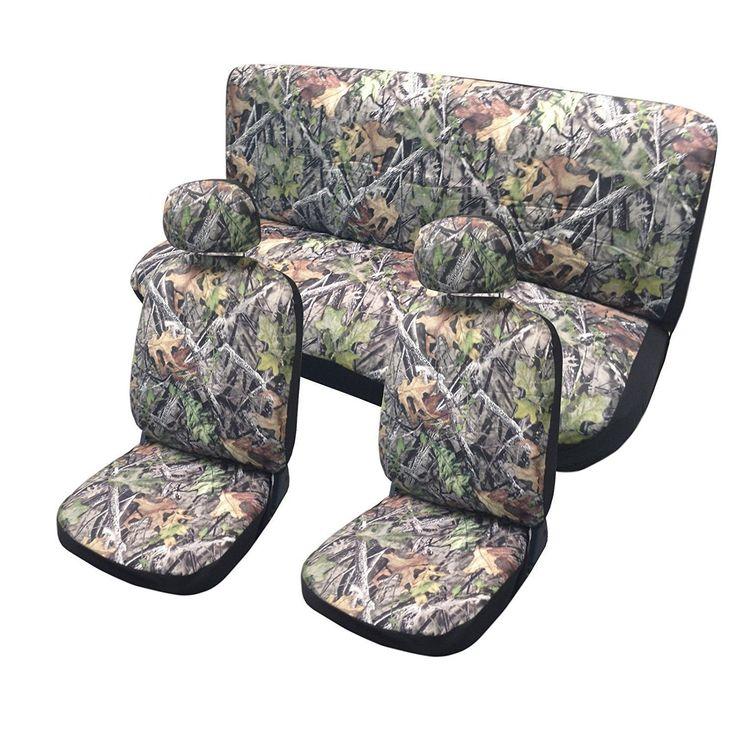 Unique BDK Hunting Camo (Green)uflage Car Seat Covers, Hawg Camo Design 11 Pcs Set (Color)