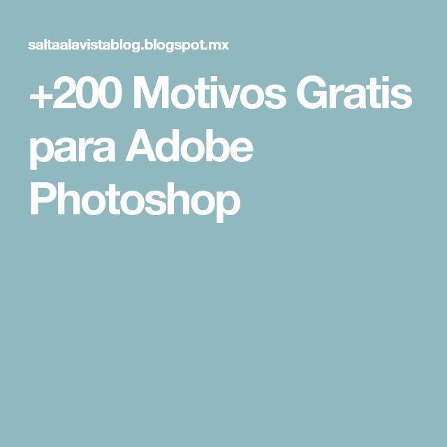 +200 Motivos Gratis para Adobe Photoshop
