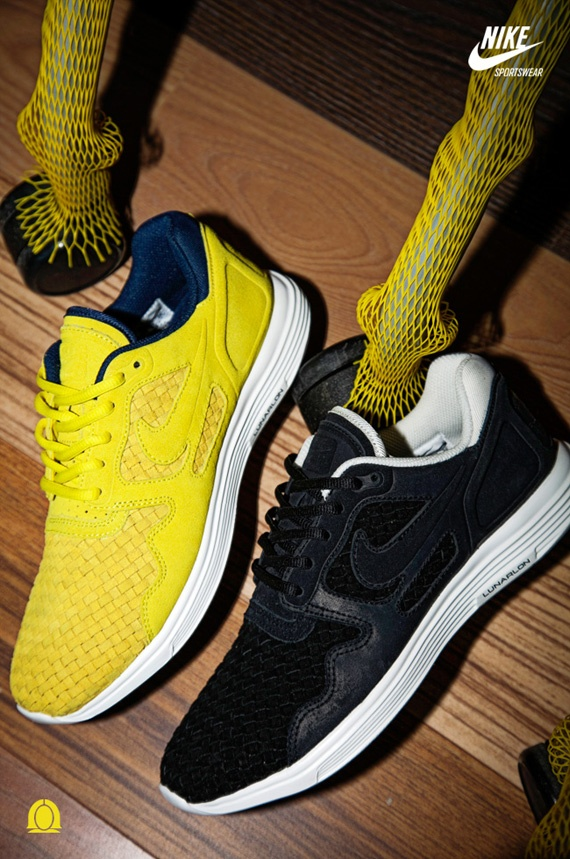Nike Lunar Woven Flow - Golden Sash/Midnight Navy-Summit White