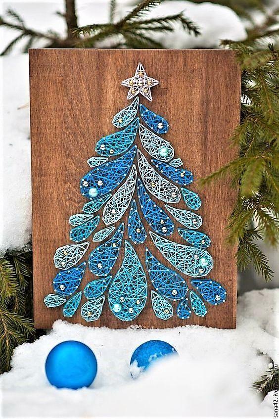 Weihnachtsbaum String Kunst – #Art #Christmas #String #Tree – Nagel Kunst
