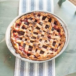 Sour Cherry Pie with Canned or Jarred Cherries:  Enjoy Sour or Tart Cherry Pie year round with this recipe using canned or jarred cherries