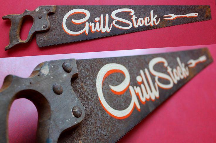 Grillstock - Restaurant signage #signwriting