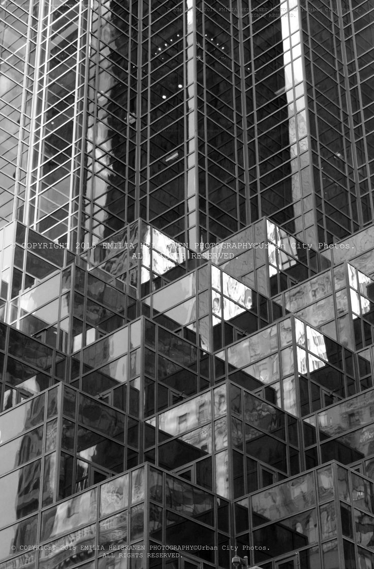 Reflections are everywhere in midtown New York!