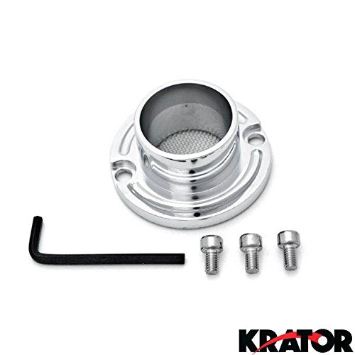 Krator NEW ATV Exhaust Tip Muffler Power Polished Chrome For Yamaha Grizzly 80 (All Years) #carscampus #KapscoMoto