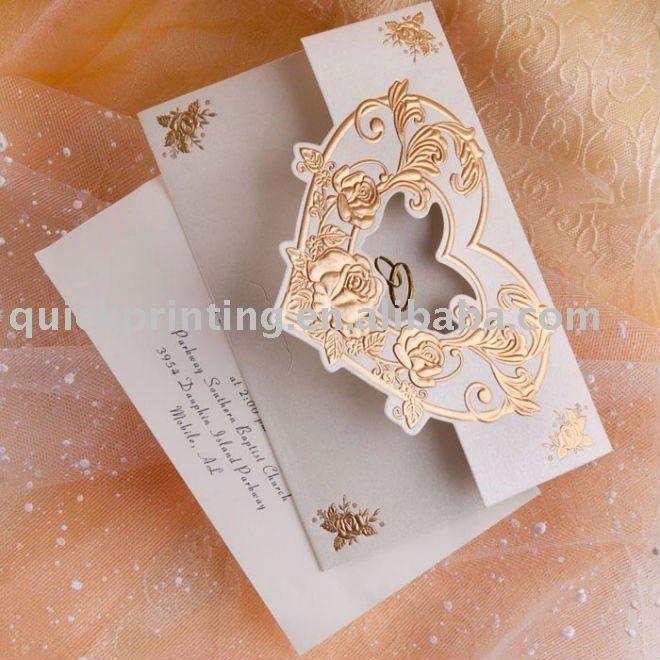 Plegable de lujo invitación de la boda tarjetas-Imprentas de Papel ...
