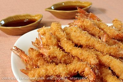 yummy, seriously delicious shrimp tempura