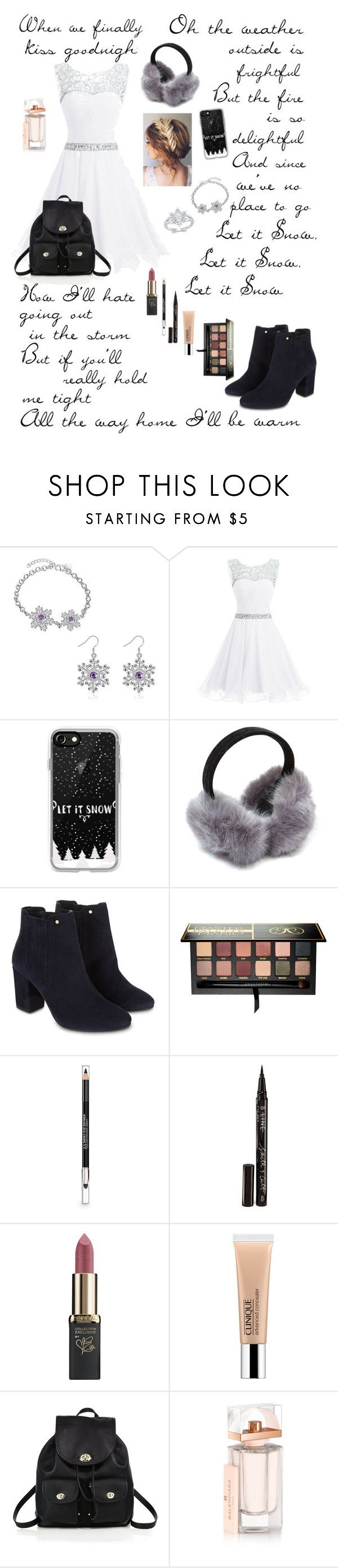 """""""🎄 Let It Snow 🎄 BONUS SET"""" by enchantingfashions ❤ liked on Polyvore featuring Casetify, Monsoon, Anastasia Beverly Hills, The Body Shop, Smith & Cult, L'Oréal Paris, Clinique, Coach, Balenciaga and 12daysofchristmas"""