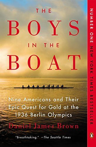 The Boys in the Boat: Nine Americans and Their Epic Quest for Gold at the 1936 Berlin Olympics by Daniel James Brown, http://smile.amazon.com/dp/B00AEBETU2/ref=cm_sw_r_pi_dp_sJN0ub1KX5JGK