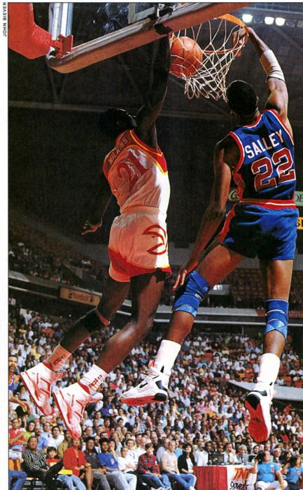 Detroit Pistons John Salley Dominique Wilkins Atlanta Hawks