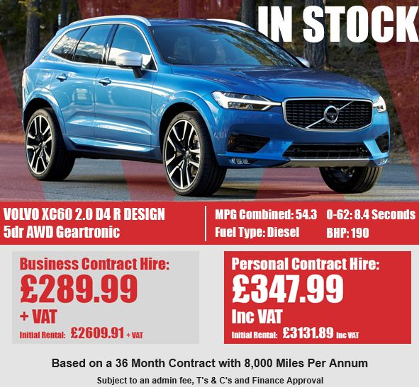VOLVO XC60 DIESEL ESTATE  2.0 D4 R DESIGN 5dr AWD Geartronic