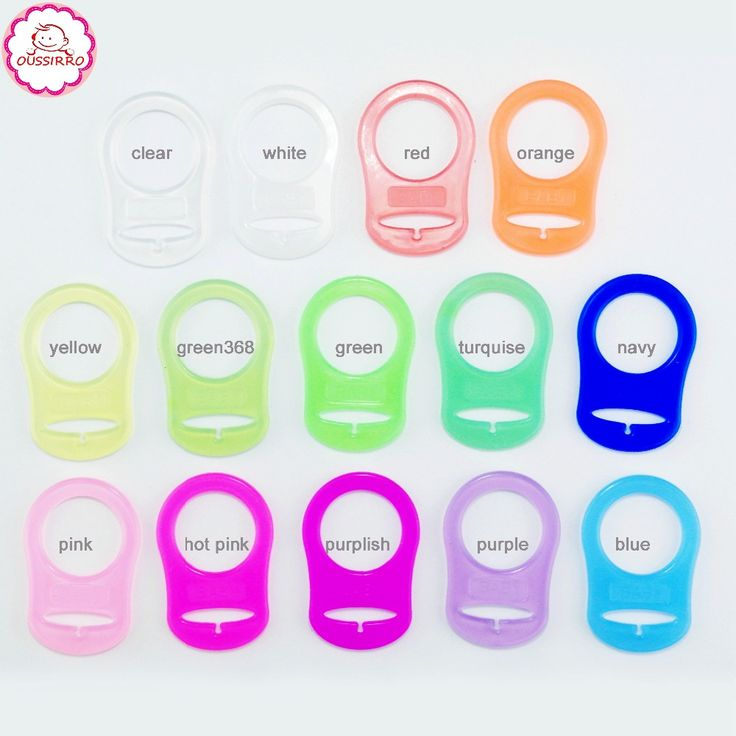 100 pcs Clean food grade BPA Free Transparent silicone mam pacifier ring NUK dummy ring attache sucette mam adapter #Affiliate