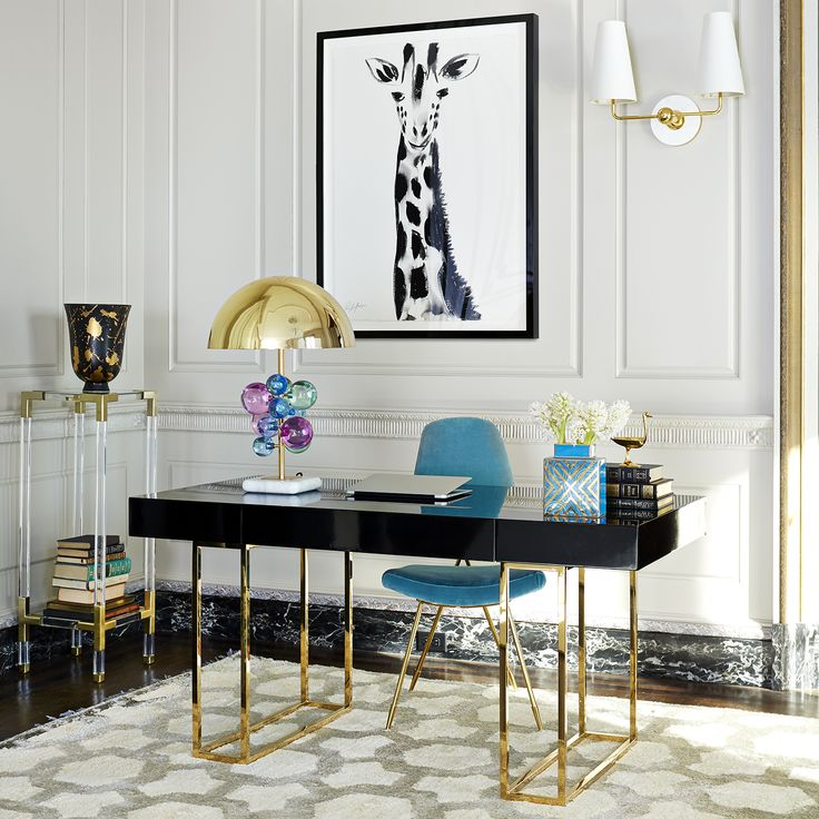 the jonathan adler caine desk gives a sense of new traditionalism to your office
