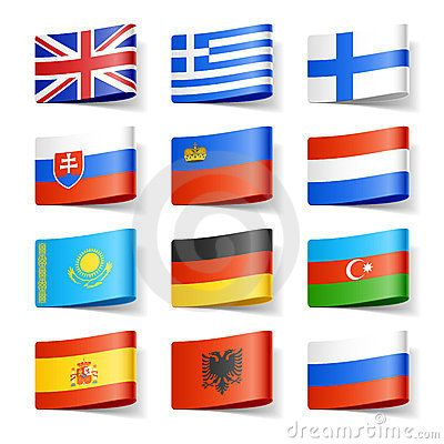 Vector Illustration about World flags. Europe.