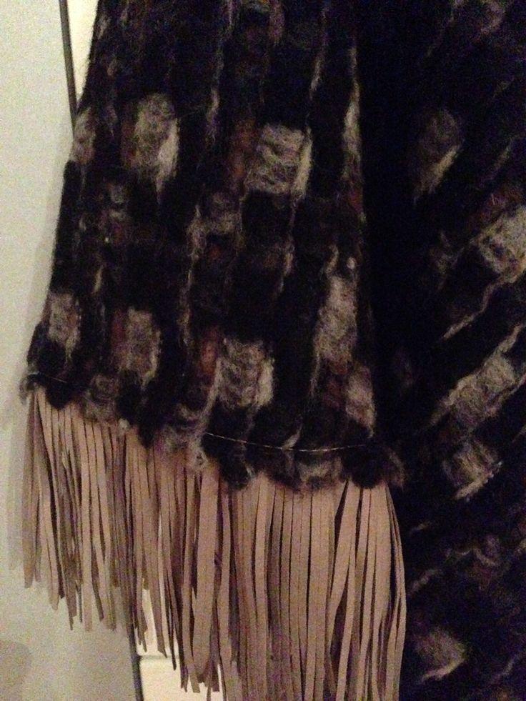 Close up wollen sjaal