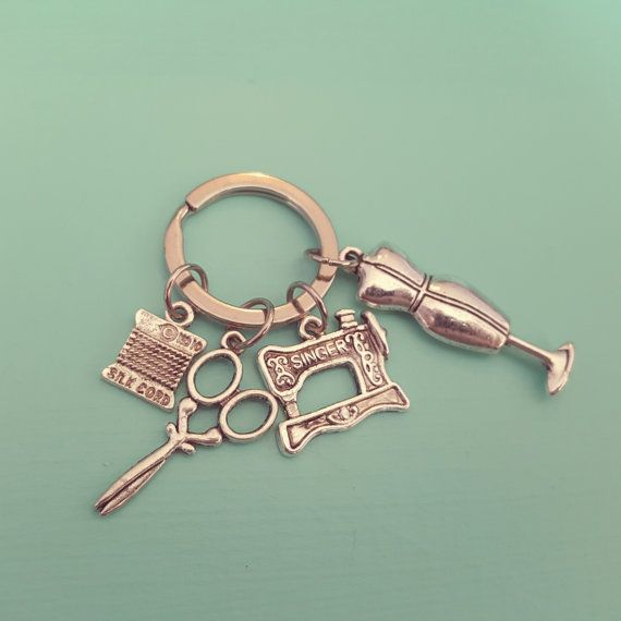 Sew & Sew Keyring from OrdinaryOctopus on etsy