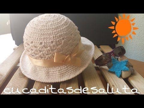 ▶ Gorro de verano / Bonnet of summer !! Tutorial DIY ¡¡ - YouTube