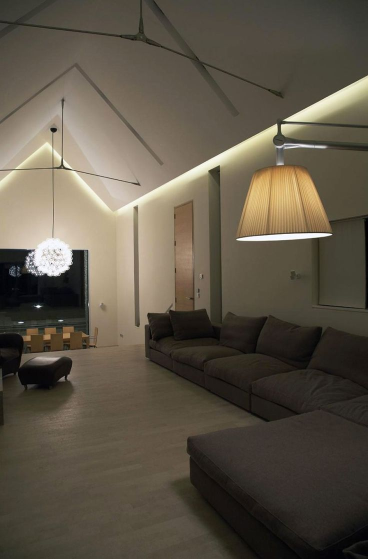 Led Color Changing Ceiling Cove Lighting Eclectic Living Room St