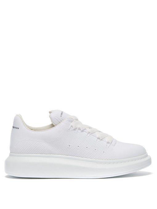 03988b41d5236 ALEXANDER MCQUEEN Raised-sole low-top mesh trainers.  alexandermcqueen   shoes
