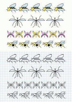 Cornicette con insetti