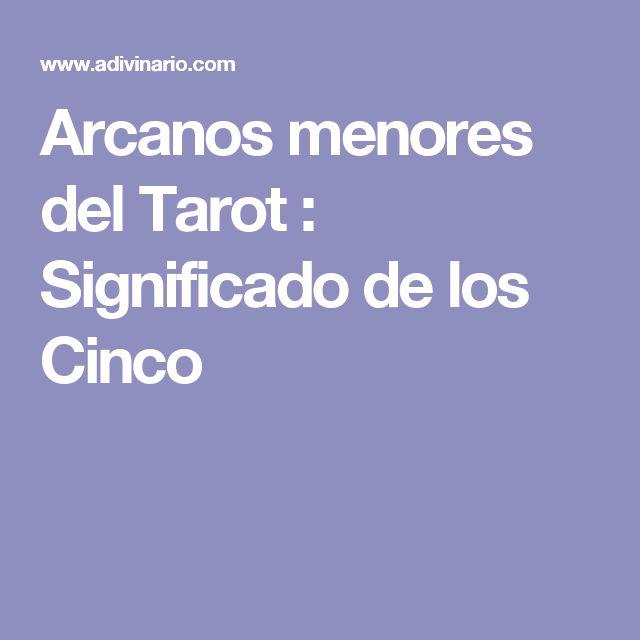 Arcanos menores del Tarot : Significado de los Cinco