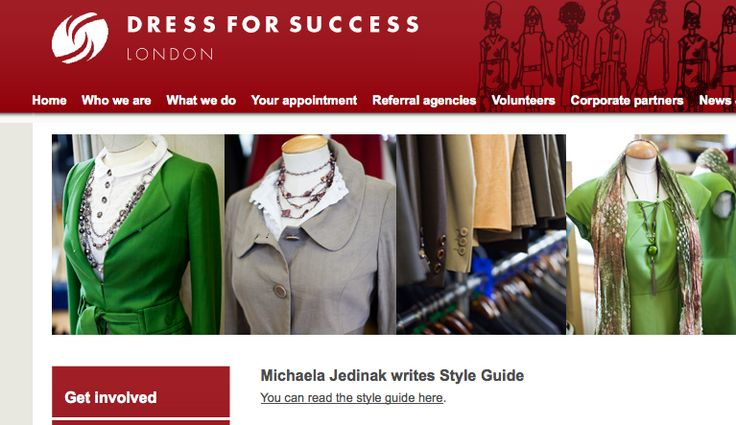 style guide for the charity  u0026quot  dress for success u0026quot   which helps women to get a job and provide