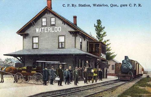 WATERLOO, Québec - CPR Train and station  - AOL Image Search Results
