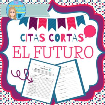 """Spanish speaking activity, spanish future tense, el futuro, Spanish game, Spanish speaking activity, speaking activities, Spanish oral assessment Spanish Future Tense Speaking Activity, """"Citas Cortas"""" Need a way to get your students SPEAKING more, and COMPLETELY in the target language!?"""