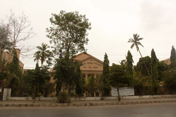One of the few buildings in Saddar that have a bit of greenery and clean road.