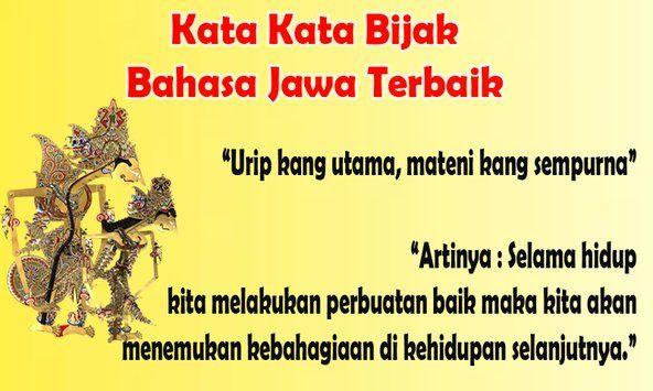 Kata Kata Bijak Jawa Kuno Dan Artinya Kata Kata Motivasi Bijak Motivasi