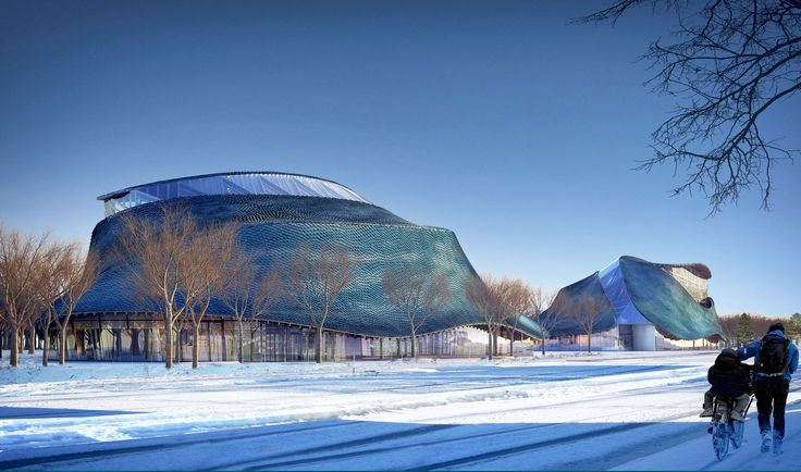 Gallery of Liget Budapest Awards Third Place to LEAD's Blue Tiled Museums - 1