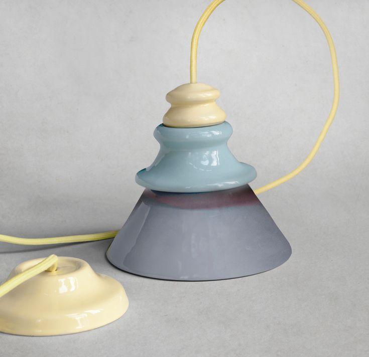 Pado Lamp - hand made unique ceramic lamp by Grześkiewicz Design Studio