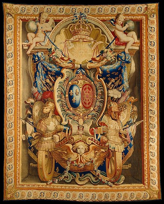 """Manufacture Nationale des Gobelins (French, established 1662). Tapestry (armorial hanging), late 17th century. The Metropolitan Museum of Art, New York. Gift of Thomas Emery, 1954 (54.149) 