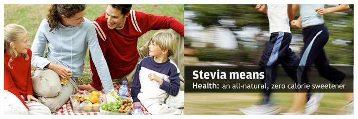 Stevia means health: an all-natural, zero calorie sweetener.